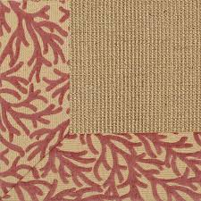 exclusive coral chenille border sisal rug sisal rugs sisal and