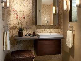 decorative brown tile for small bathroom backsplash ideas
