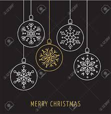 christmas ornaments snowlakes geometric line christmas ornaments background