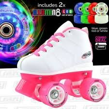 roller skates with flashing lights crazy rocket kids speed quad roller skates with light up wheels