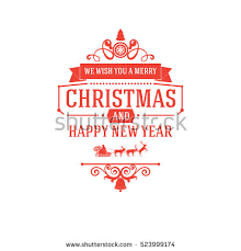 merry new year greetings classic stock vector 523999207