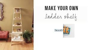 diy leaning ladder shelf knock it off the live well network