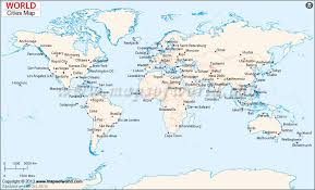 world map by cities map world cities major tourist attractions maps