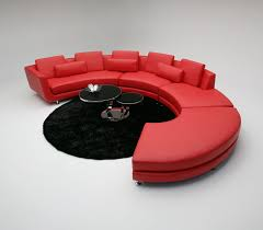 Leather Curved Sectional Sofa by 18 Stylish Modern Red Sectional Sofas