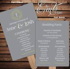 Wedding Ceremony Fan Programs Wedding Programs On Fans Examples Google Search Wedding Ideas