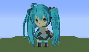 chibi hatsune miku pixel art by sviat93 on deviantart