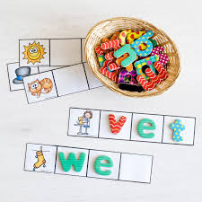 cvc word cards for magnetic letters or write and wipe the