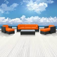 Orange Wicker Patio Furniture - sofa sets modern sofas belizo ceres 8 pcs wicker patio furniture