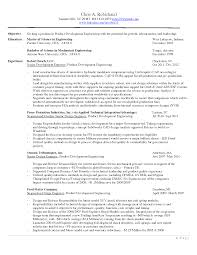 Sample Resume Product Manager Objective Product Manager Resume Objective