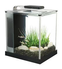 Aquarium For Home Decoration Small Desk Aquarium Kit Nano 2 6 Gallon Glass Tank Aluminum Trim