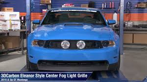 2012 mustang gt saleen grille mustang 3dcarbon eleanor style center fog light grille 10 12 gt