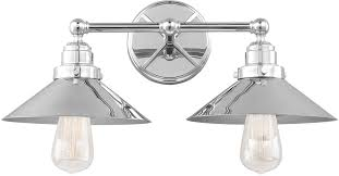 Feiss VSCH Hooper Retro Chrome Light Lighting For Bathroom - Bathroom lighting fixtures chrome 2