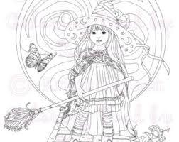 fantasy coloring coloring digital download
