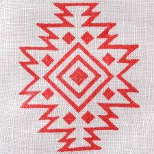 fabric creations block printing stamps medium aztec tile