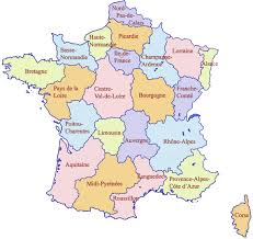 Map France by France Physical Map