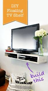 How To Make Floating Shelves by How To Build A Floating Tv Shelf Pretty Handy