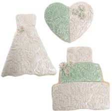 sage white and pink wedding cookie collection cookie decorating