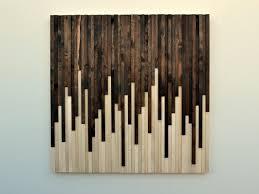 wall beautiful wood wall idea using abstract motif in small