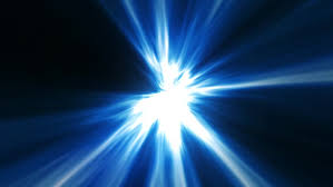 pulsating blue light rays looping stock footage 3059425