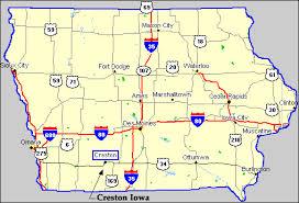 map of iowa creston iowa iowa map