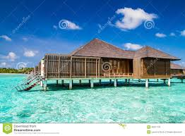 maldives island water villas resort stock photo image 49017191