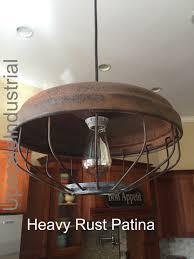 Industrial Lighting Chandelier Vintage Pendant Light Rustic Chicken Feeder Kitchen Island