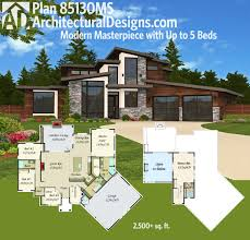 plan 80826pm master suite with wrap around deck modern house