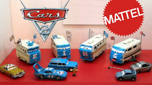 disney cars mattel display petersen museum convoy brothers