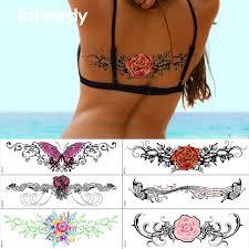 henna tattoo under breast sexy under breast tattoo hot sale ornamental tattoo temporary body