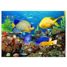 diy diamond sticker cross stitch painting undersea world home