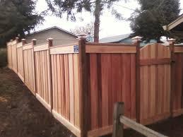 custom built cedar fence with horizontal cedar boards custom
