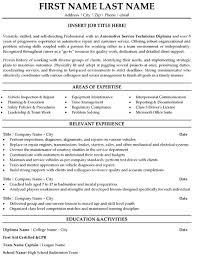 Resume Technician Maintenance Automotive Technician Resume Resume Badak