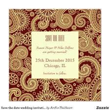Walima Invitation Card Save The Date Wedding Invitation Card Red Indian Save The Date