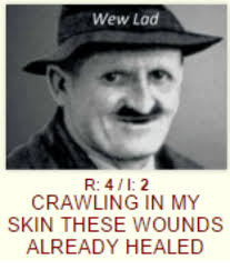 Wew Meme - wew lad r 4 2 crawling in my skin these wounds already healed dank