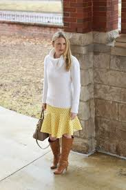 spring dress in winter winter fashion style in a small town