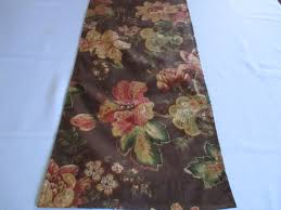 table runner decorator fabric floral dining room rust gold