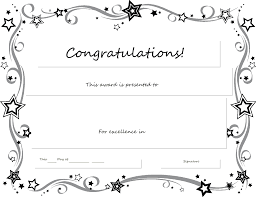 Free Certificate Of Excellence Template Free Printable Certificates Templates Word Sle Daily Roabox