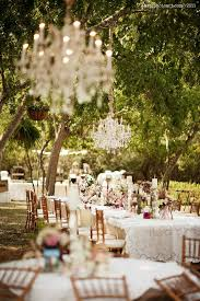 Simple Elegant Dinner Ideas A Lovely Evening Reception Set Under The Trees With Vintage