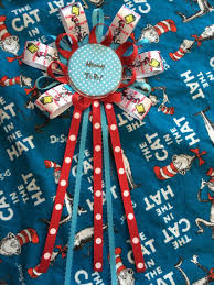 dr seuss cat in the hat baby shower corsage mommy to be pin