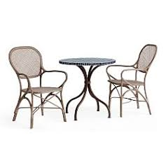 pottery barn bistro table bistro tables chairs pottery barn