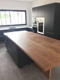 fabriquer une table bar de cuisine plan de travail en palette table de travail bureau un