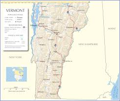 New York Political Map by Vermont Map Vermont State Map Vermont State Road Map Map Of Vermont