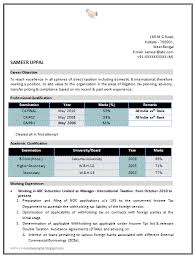 Sample Resume For Ca Articleship Training Over 10000 Cv And Resume Samples With Free Download Ca Resume