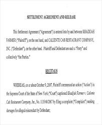 sample debt settlement agreement disputed account settlement