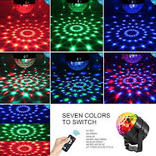 sound activated dj lights aomees disco ball party lights strobe light 3w sound activated dj