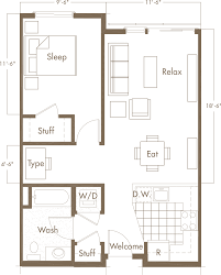 Open Floor Plan Studio Apartment Small Apartment Floor Plans One Bedroom 2015 Loversiq