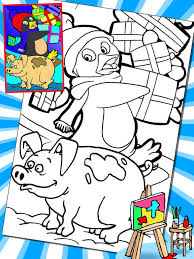 thomas pig pengiun paint coloring game apps 148apps