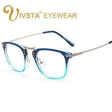 Optical Frame Tagged Glasses Fonex Ivsta Shadow Blue Color Vintage Glasses Optical Frame