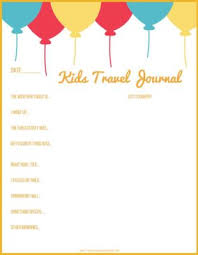 printable vacation journal pages journal ideas for kids with printable pages