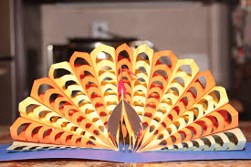 thanksgiving pop up card turkey for the teacher kids projects